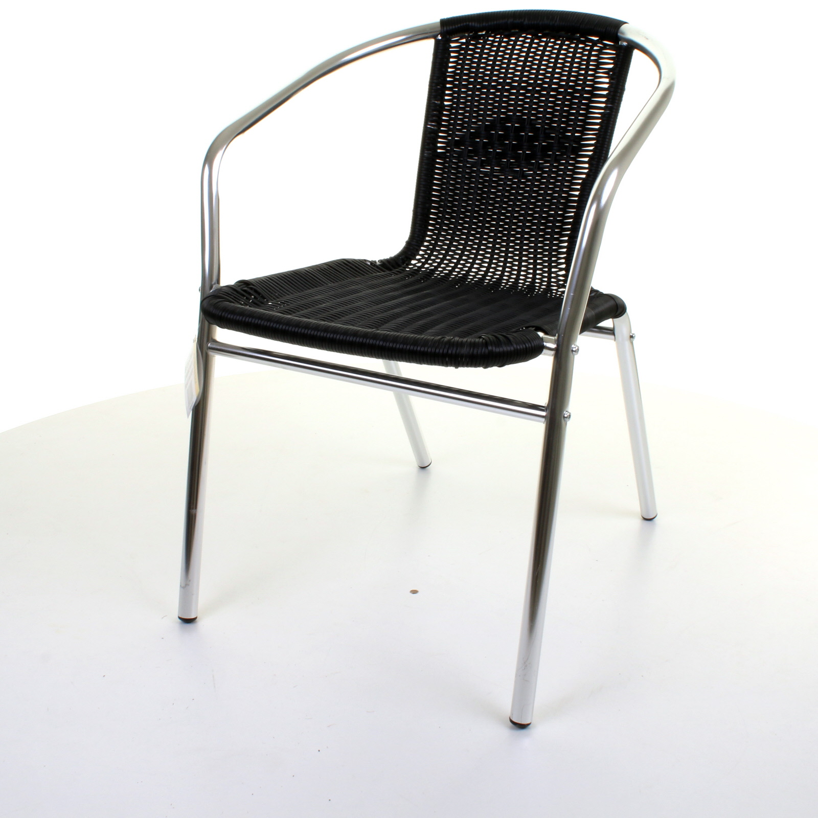 Aluminium Chrome Bistro Chair Outdoor Garden Patio Seating