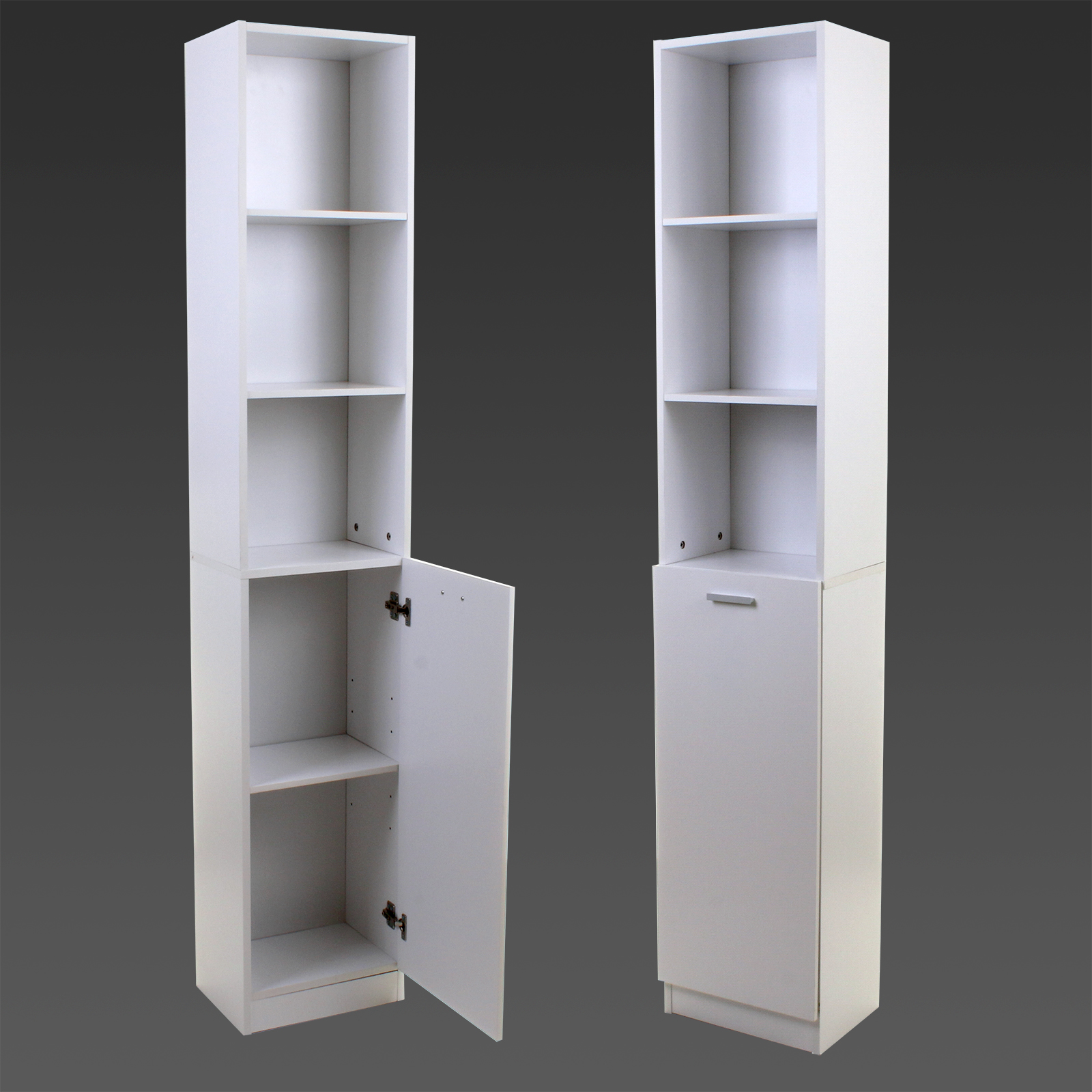 White tall boy storage unit shelving shelves cupboard for White gloss tall kitchen units