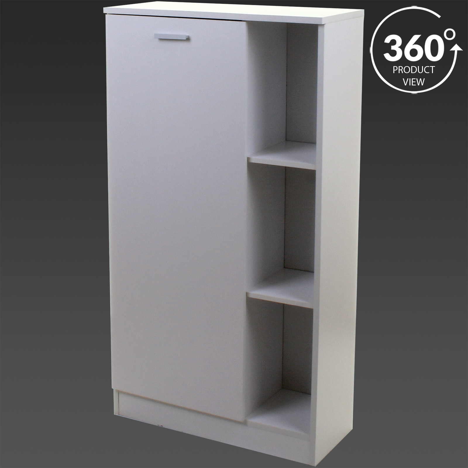 White wooden bathroom cabinet shelving storage unit for Bathroom cabinets 250mm
