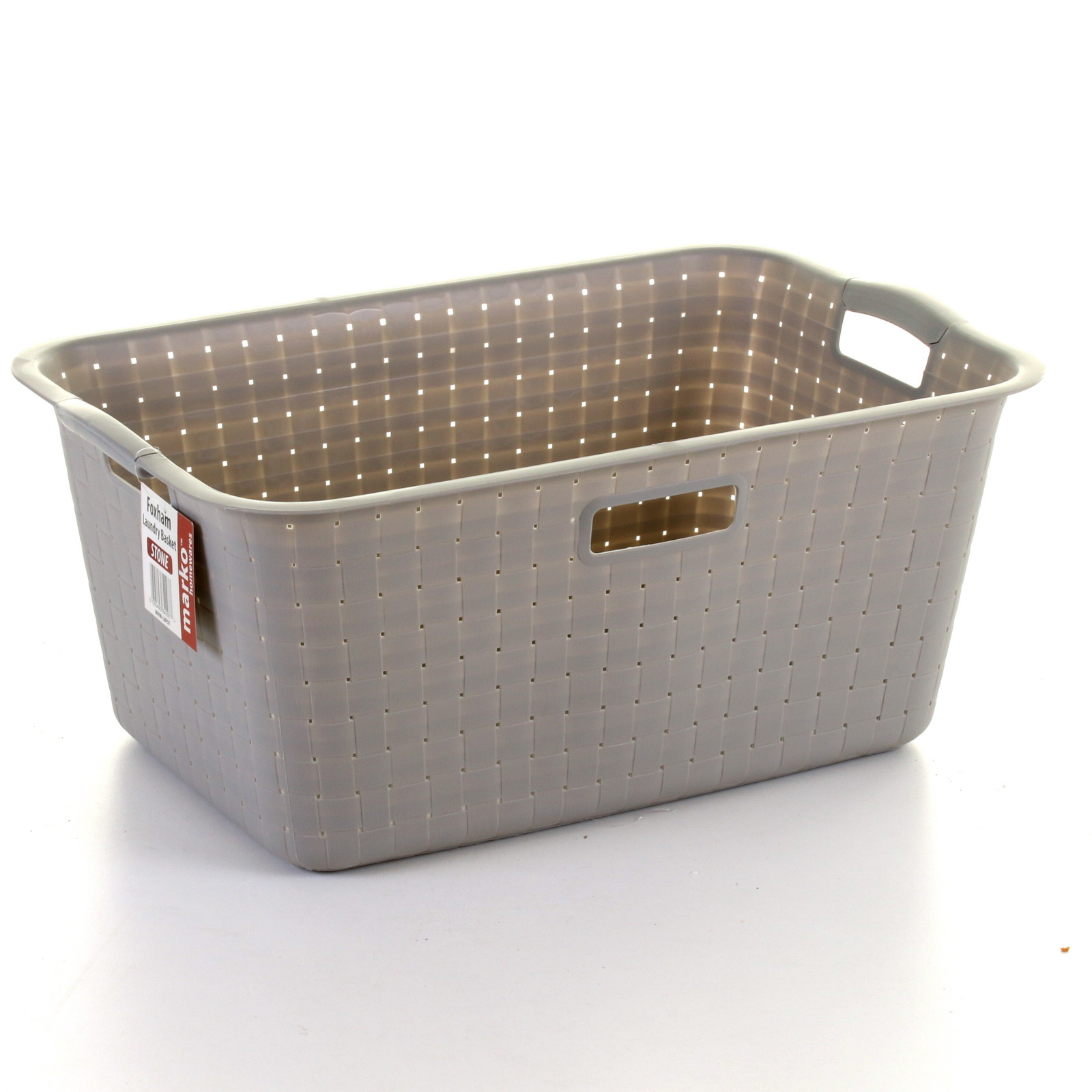 Plastic Laundry Basket Large Washing Clothes Hamper Storage Bin Rattan Style