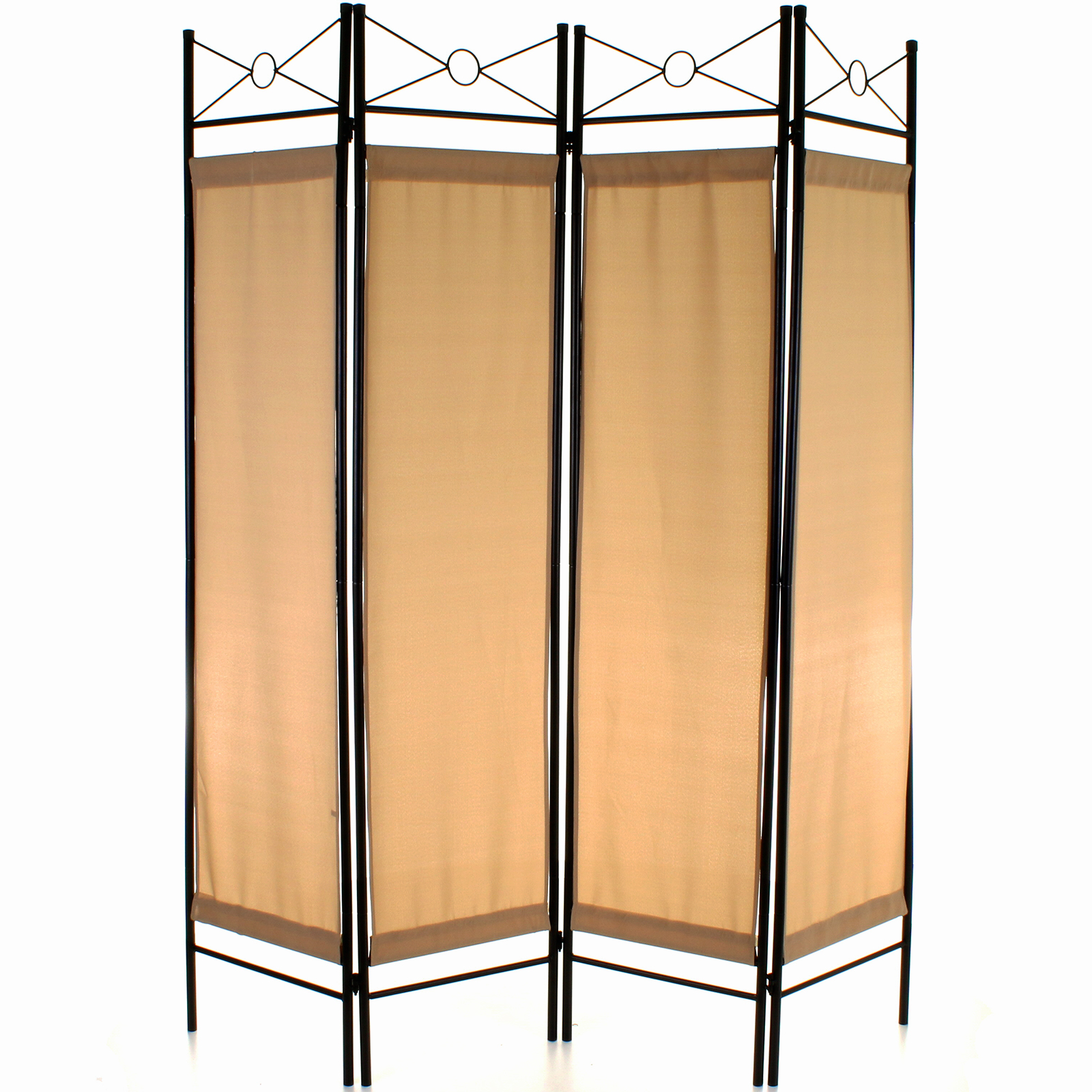 details about folding room divider 4 panel screen privacy wall movable