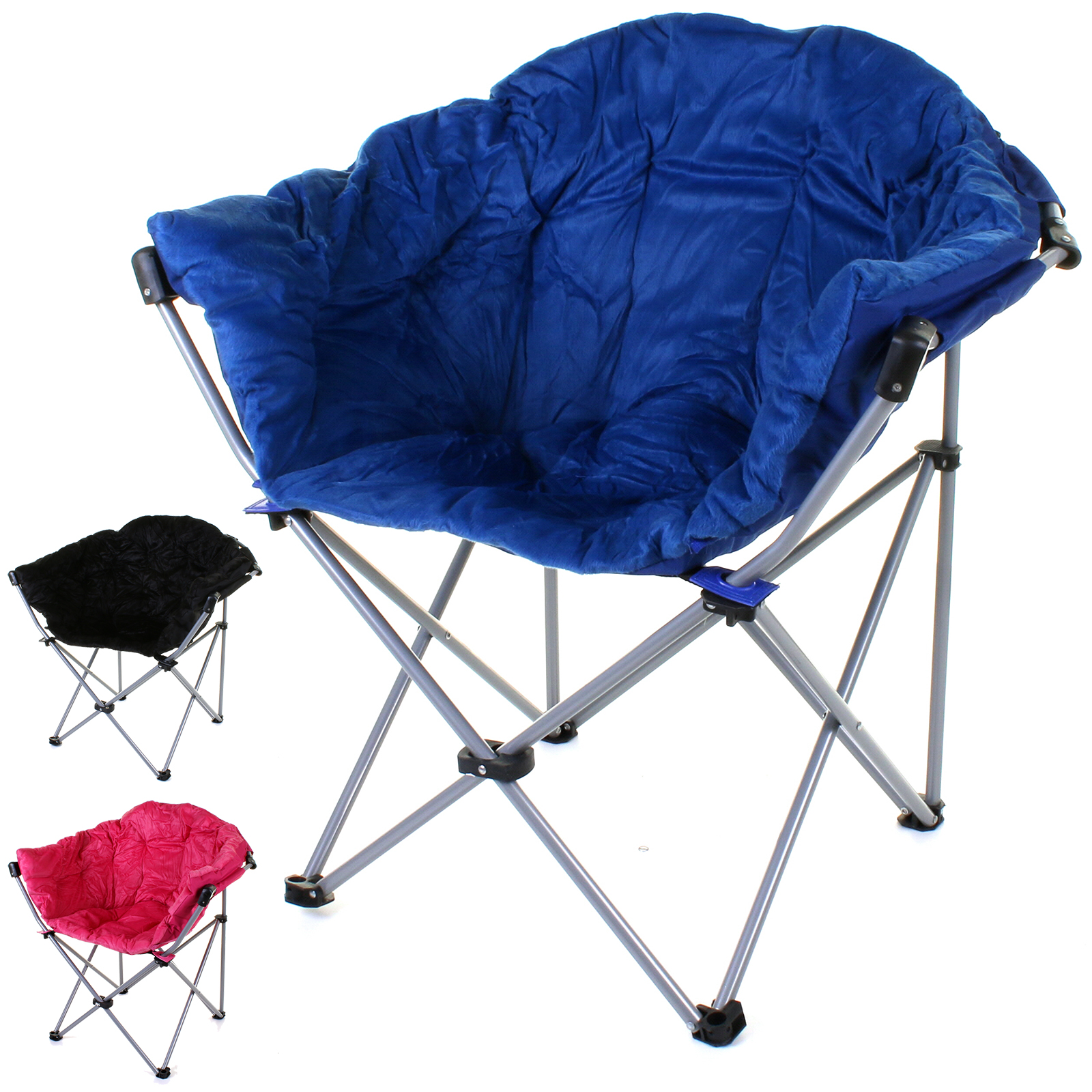 Deluxe Moon Chair Folding Camping Hiking Indoor Outdoor Garden