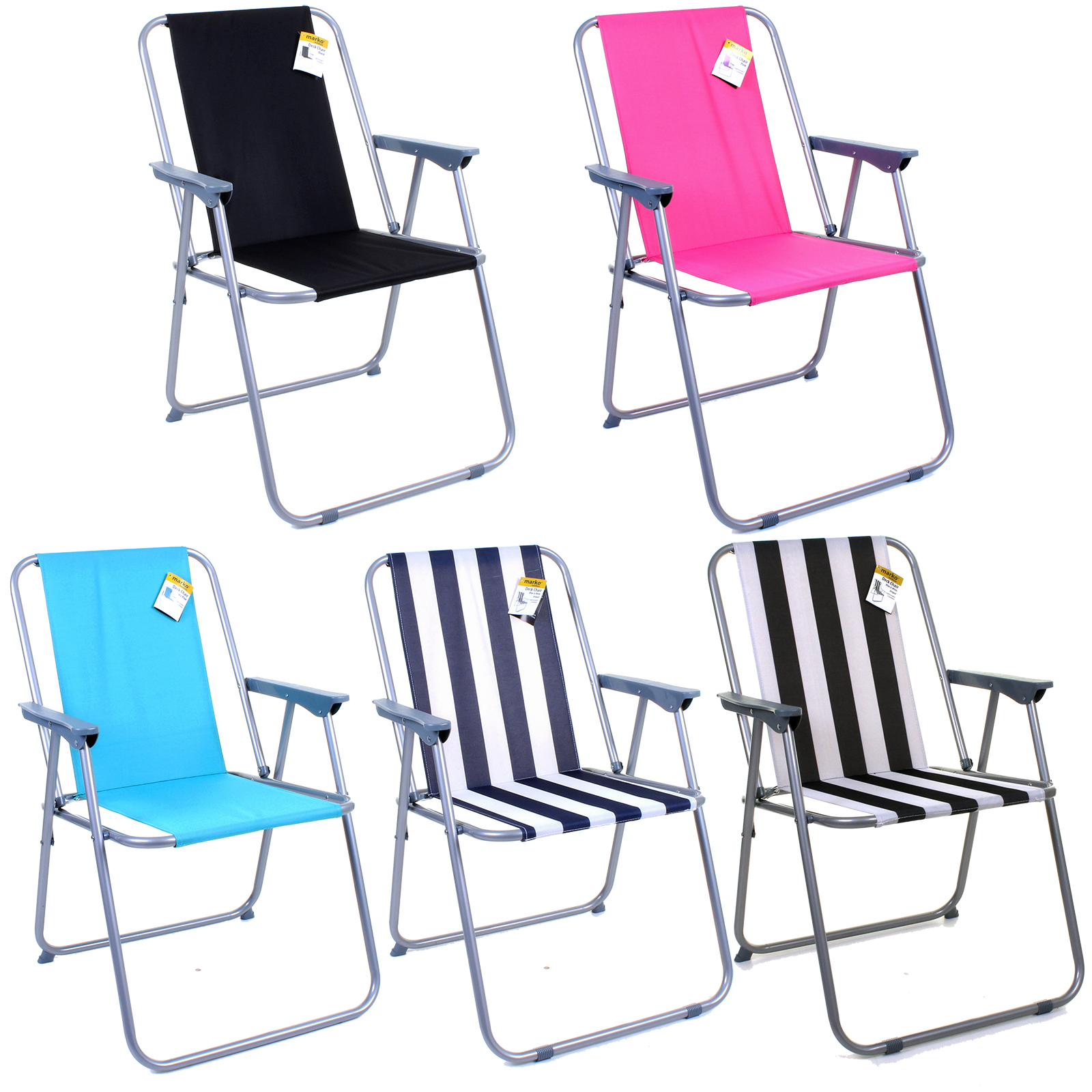 FOLDING DECK CHAIR OUTDOOR GARDEN PATIO BEACH BBQ CAMPING FISHING