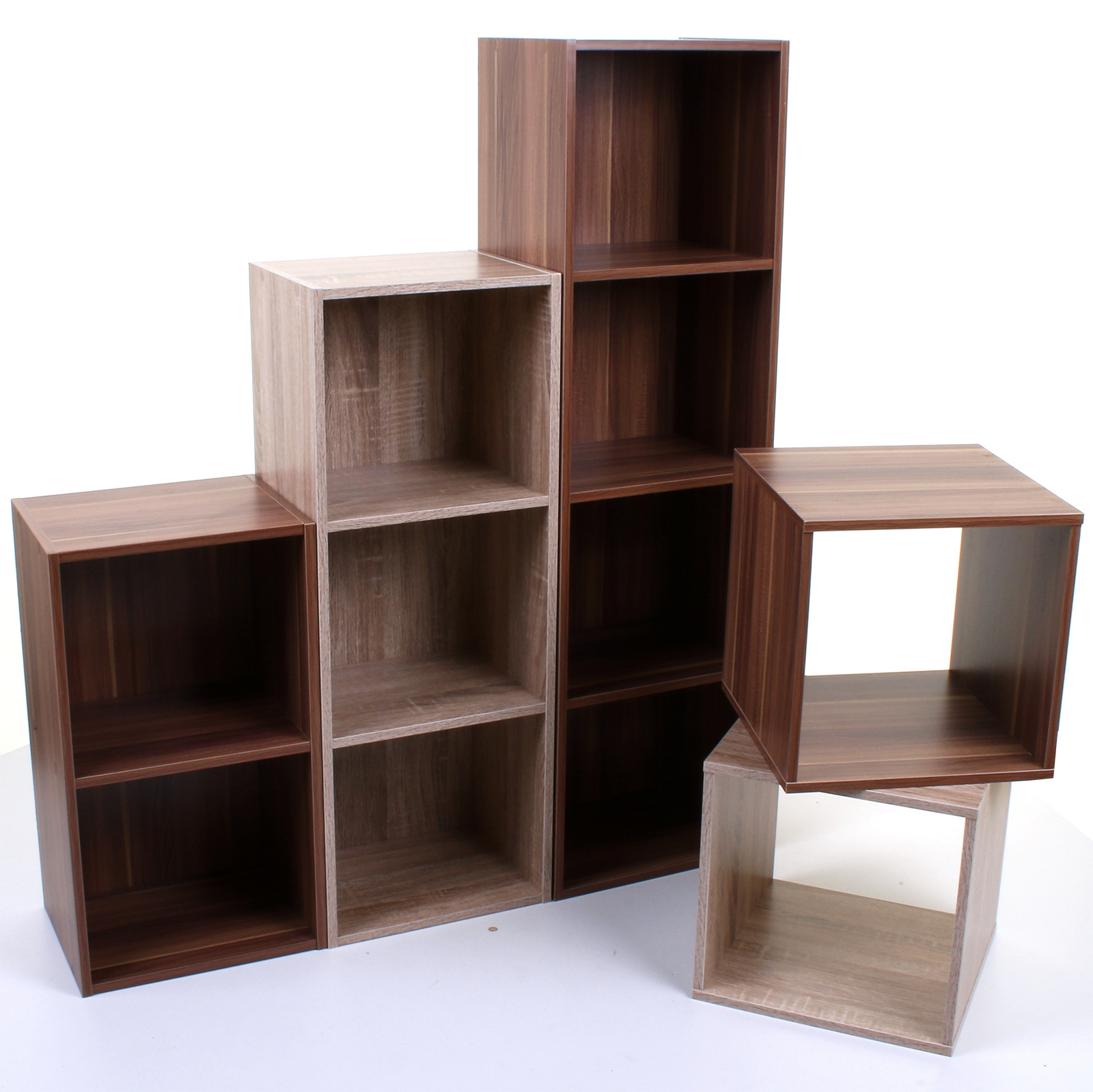 cube storage shelves 2 3 4 tier wooden bookcase shelving display shelves 10463