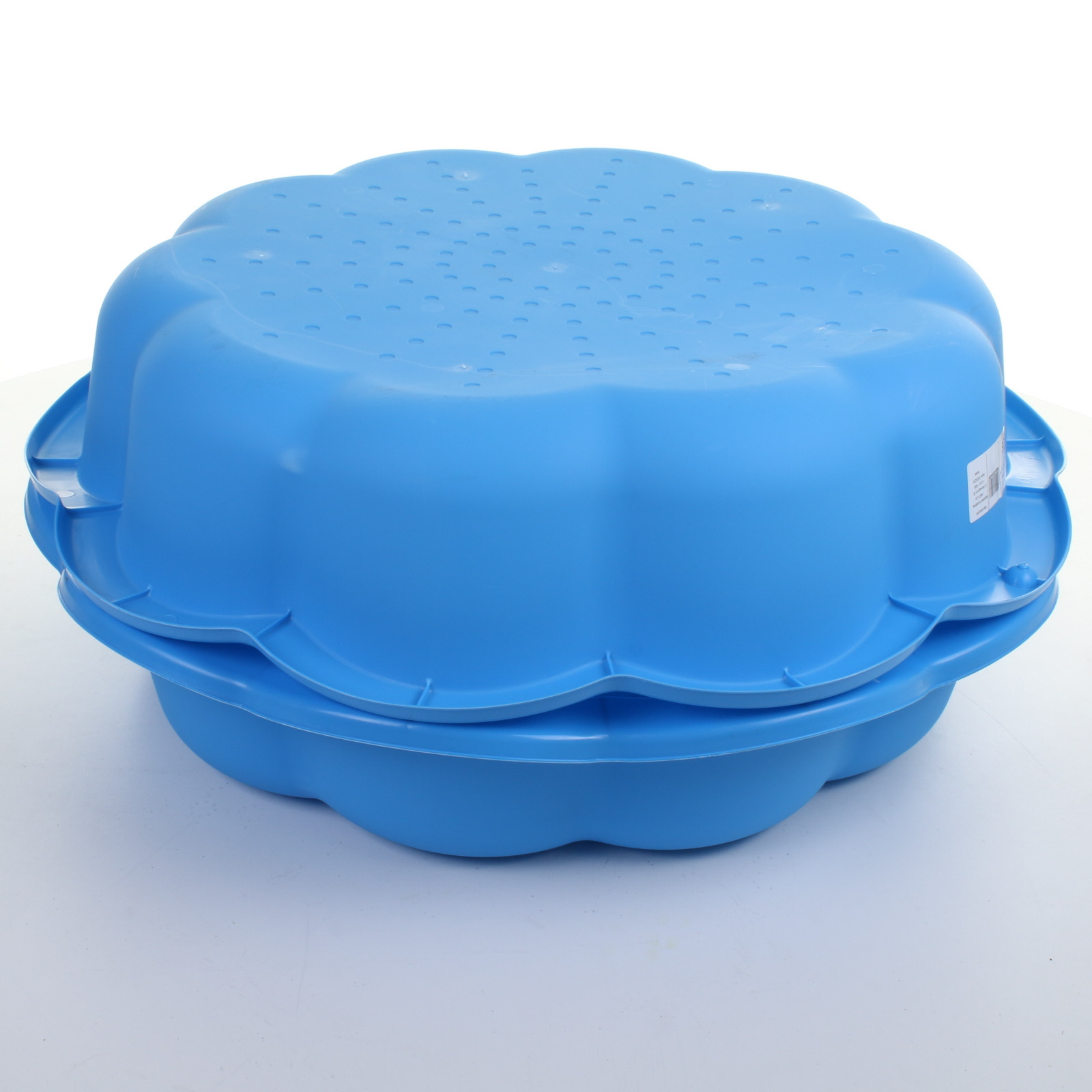 Sand pit paddling pool blue plastic outdoor garden kids for Plastic garden pool