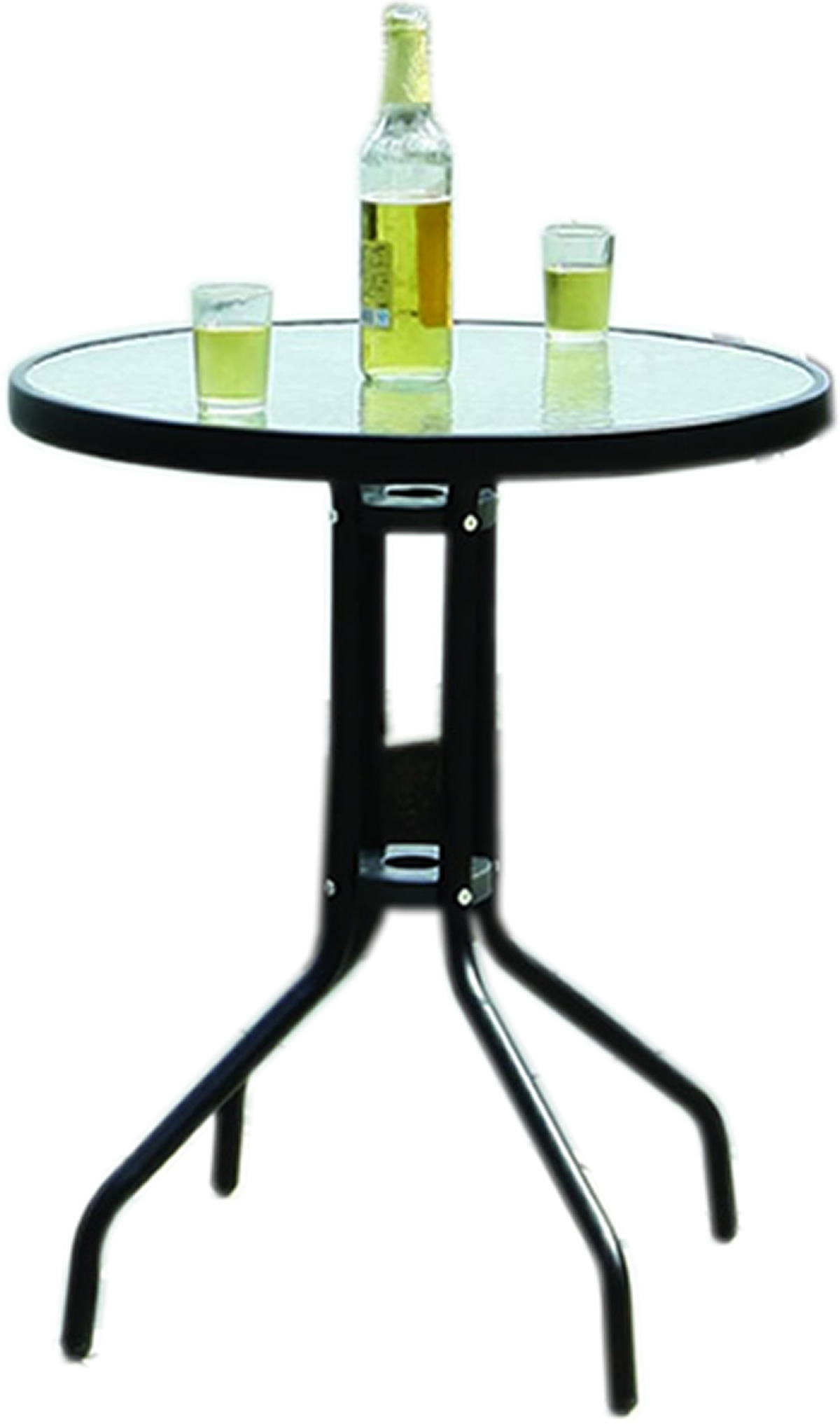 black metal frame bistro table with glass tabletop outdoor dining furntiure new. Black Bedroom Furniture Sets. Home Design Ideas
