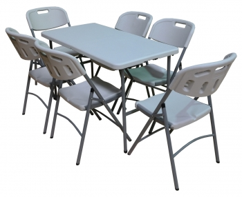 Table And Chairs Patio Set Picnic BBQ Party Folding