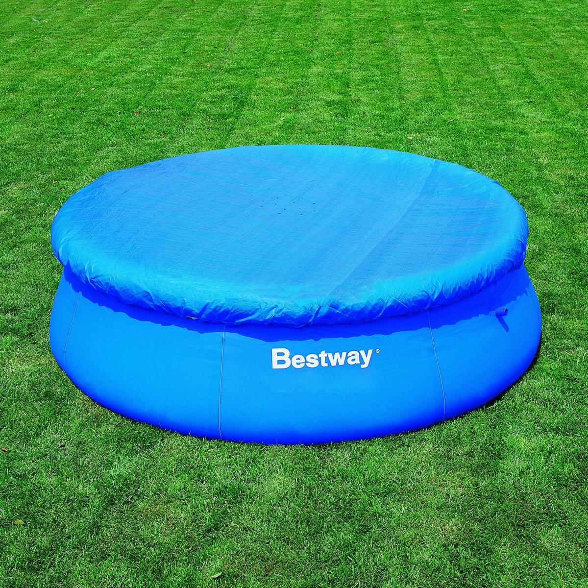 10ft Fast Set Swimming Pool Covers Debris Protection Covering Fast Set New Cover Ebay