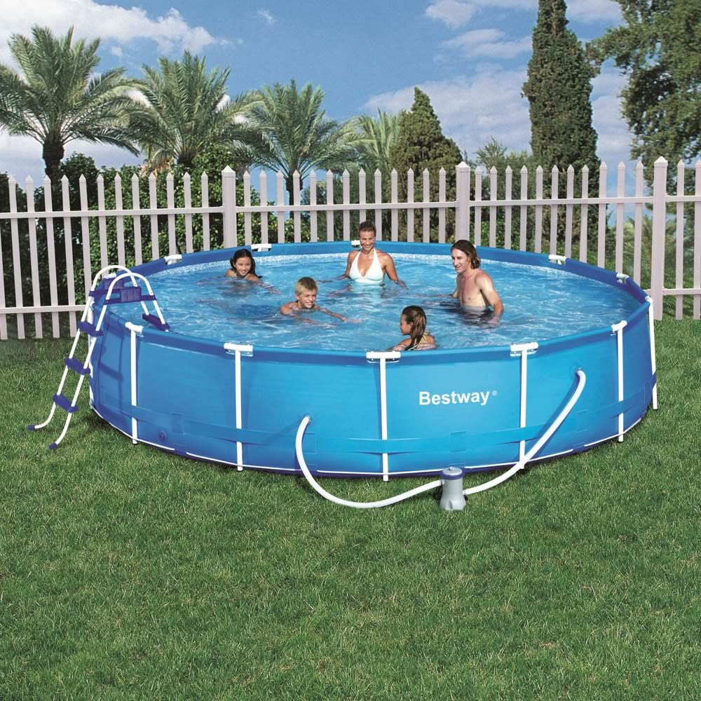 Outdoor inflatable swimming paddling pool garden family for Garden paddling pools