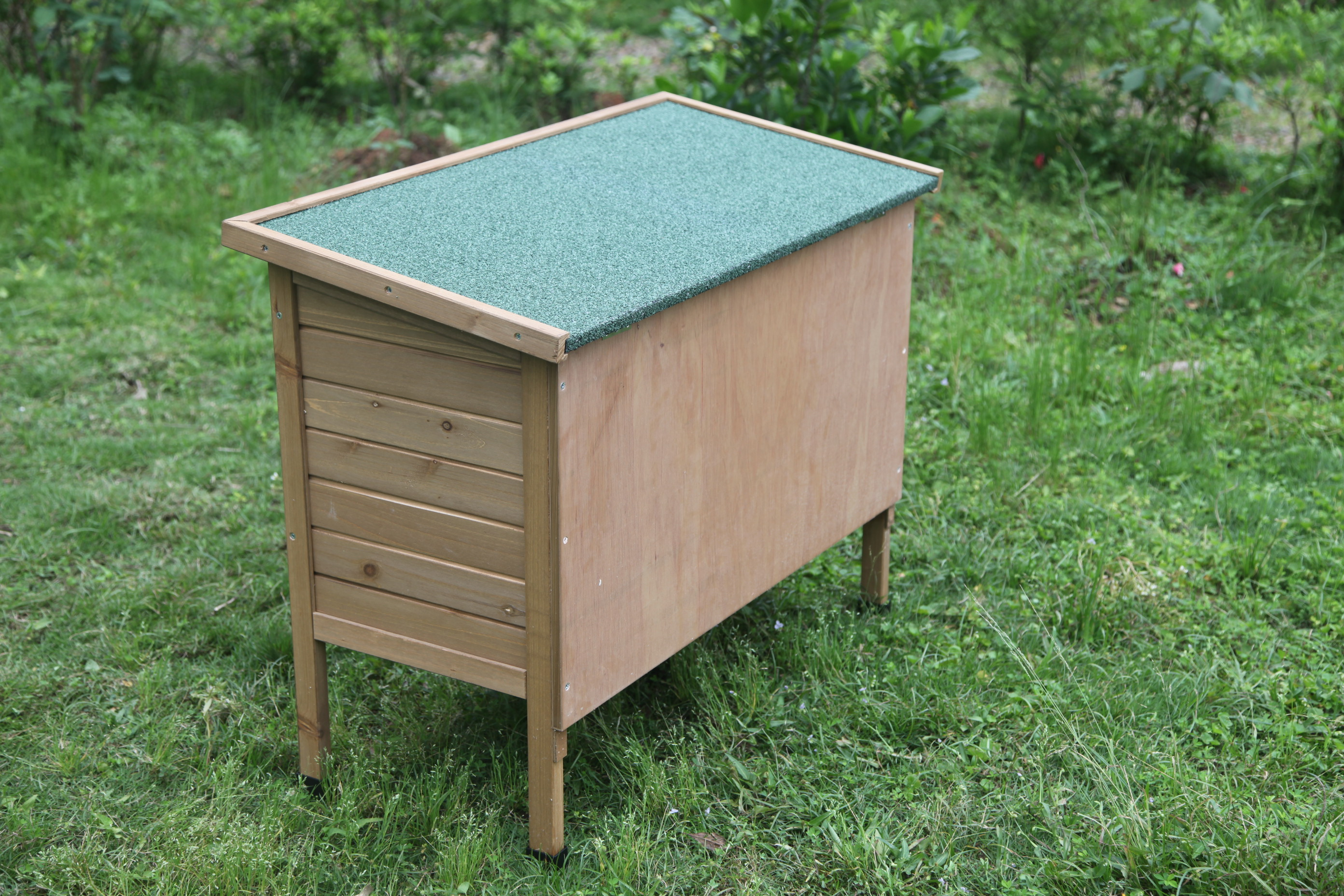 Large wooden outdoor rabbit hutch and run guinea pig for Outdoor bunny hutch