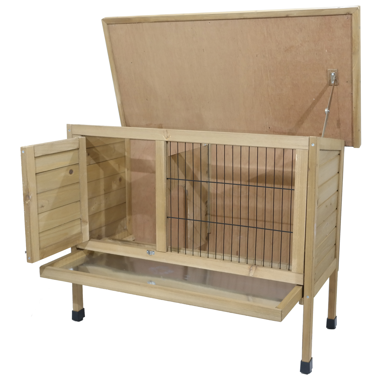 Extra large rabbit hutch cage guinea pet house run 92cm w for Extra large rabbit cage