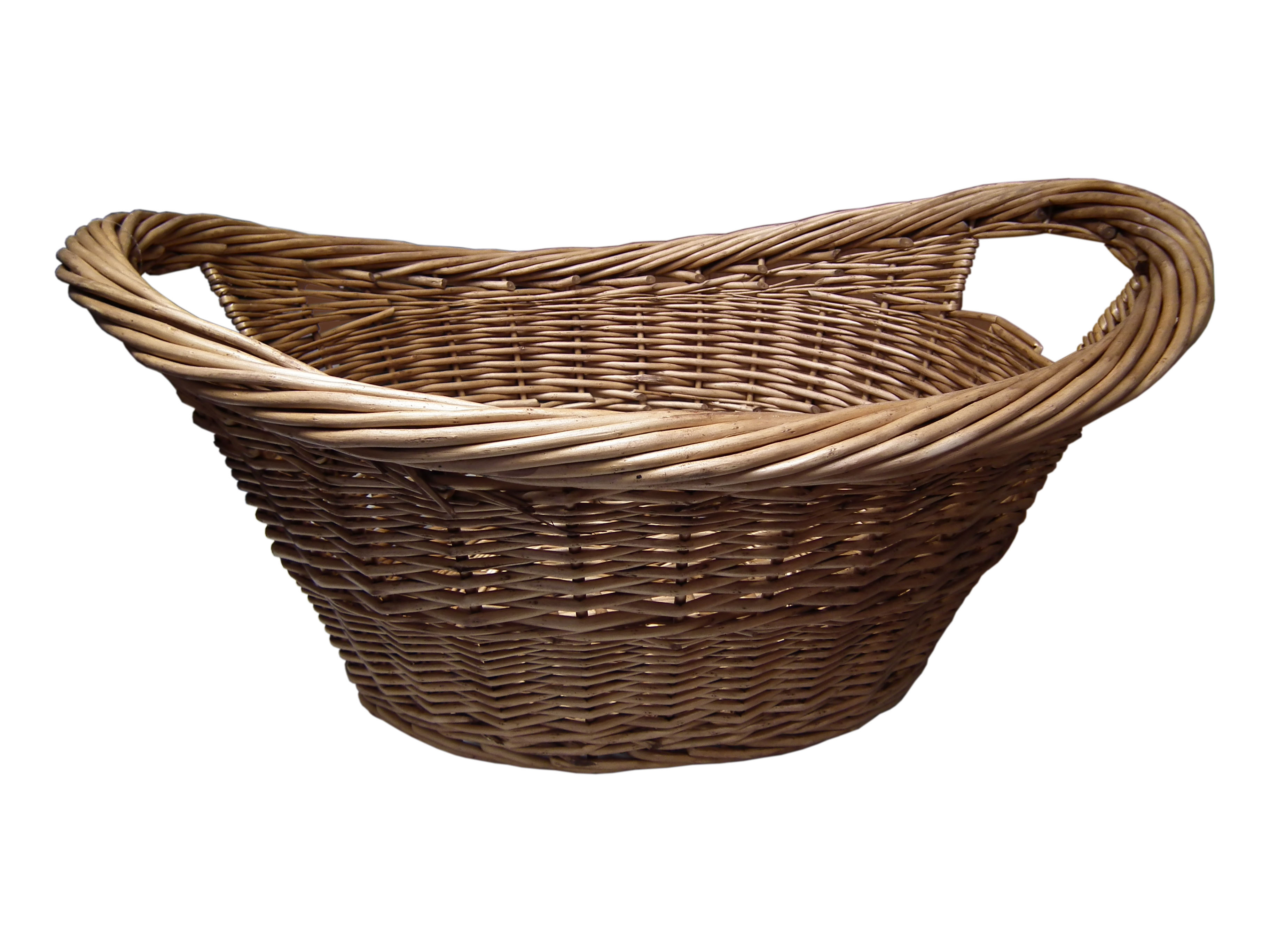 Wicker Woven Laundry Basket Bamboo Seagrass Clothing