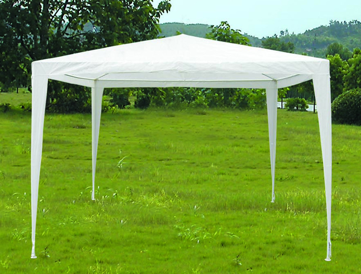 White pe tarpaulin like material shelter cover garden for Carpas jardin baratas